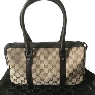 Gucci Monogram Supreme Canvas Tote Bag