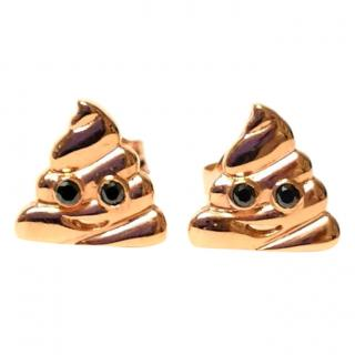 Alison Lou Diamond Set 14ct Solid Gold Stud Earrings