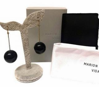 Marion Vidal Tic Toc Drop Earrings