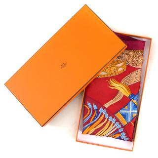 Hermes Ceintures et Liens Silk Scarf 90