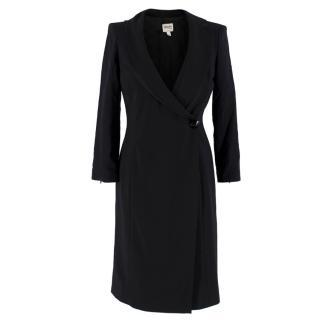 Armani Collezioni Black Asymmetric Blazer Dress