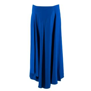 Joseph Blue Draped Asymmetric Skirt