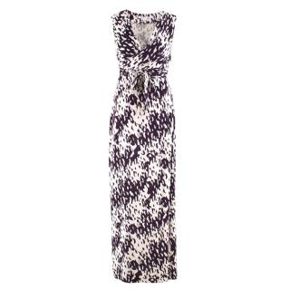Diane von Furstenberg Silk Wrap Maxi Dress