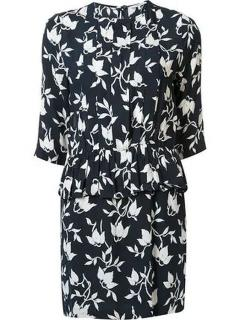 Ganni Maxwell Floral Crepe Dress