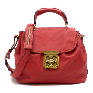 Chloe Red Elsie Satchel Bag