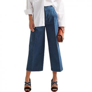 Marni Cropped Denim Wide Leg Pants