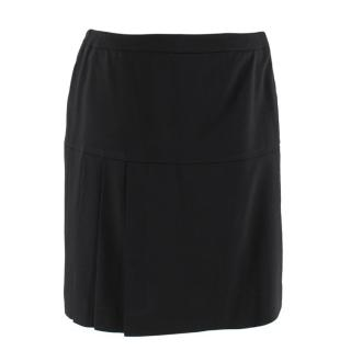 Escada Black Pleated Skirt