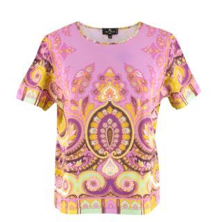 Etro Floral Paisley Print T-Shirt