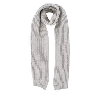 Balenciaga Grey Wool blend Knit Scarf