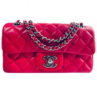Chanel Small Red Lambskin Flap Bag