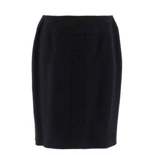 Chanel Boutique Black Knit Skirt