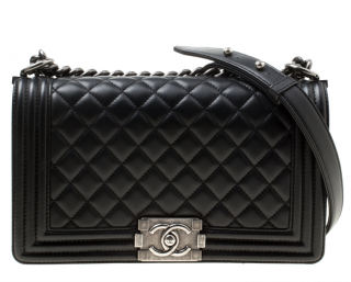 Chanel Black Calfskin Boy Bag