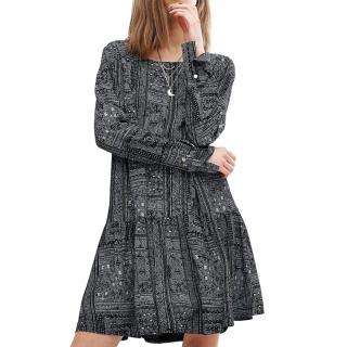 Ba&sh Mimsy Geometric Print Tunic Dress