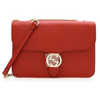 Gucci Red Interlocking GG Shoulder Bag