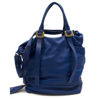 Diane von Furstenberg Leather Blue Tote Bag