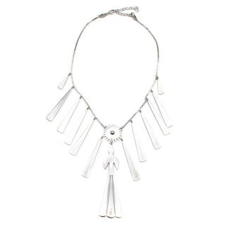 Dior Silver Tone Solar Charm Necklace