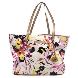 Diane Von Furstenberg Floral Printed Tote Bag