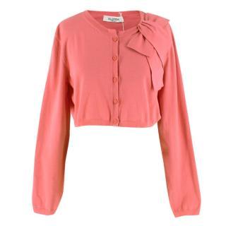 Valentino Pink Cropped Cardigan