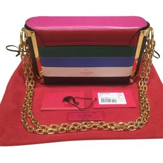 Valentino Colourblock Striped Shoulder Bag