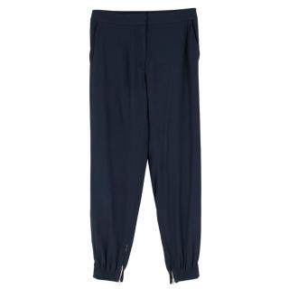 Vanessa Bruno Navy Trousers with Zipped Ankle