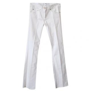Elisabetta Franchi White Straight Leg Jeans