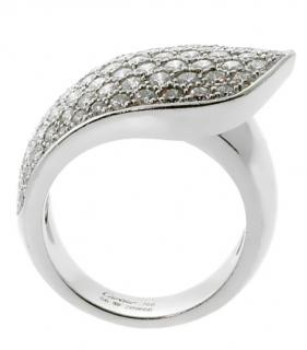 Cartier 3ct Diamond Set 18kt White Gold Ruben Ring