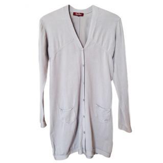 Max Mara Knit Silk Grey Cardigan