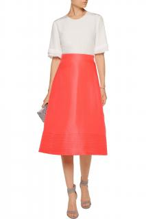 Roksanda Overton Wool And Silk-blend Skirt