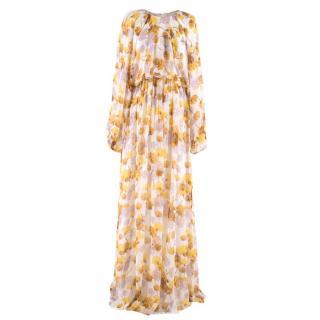 Giambattista Valli Jaune Floral Silk Gown
