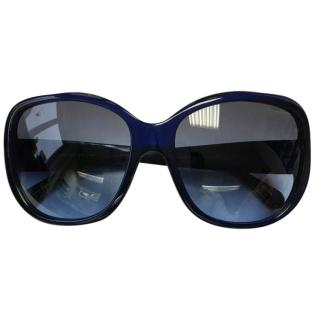 Chanel Blue Oversize Sunglasses