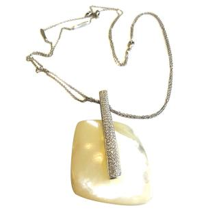 Talento Mother of Pearl Diamond Set Pendant Necklace