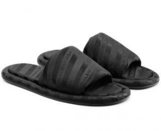 Balenciaga hotel logo slippers