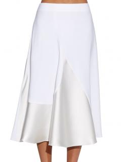 Stella McCartney white stretch-cady florentina skirt