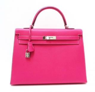 Hermes Epsom Leather Candy Pink 35cm Kelly Bag