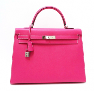 Hermes Epsom Leather Candy Pink 35cm Kelly Bag