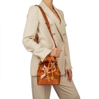 Fendi Leather & PVC Monogram Mon Tresor Bucket Bag