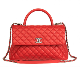 Chanel Caviar Leather Coco Handle Bag