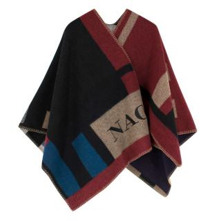 Burberry Colour Block Check Blanket Poncho