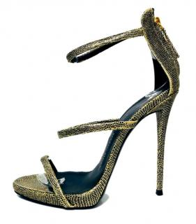 Giuseppe Zanotti Gold Lizard Harmony Sandals