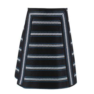 Chloe Black Embroidered A-Line Skirt