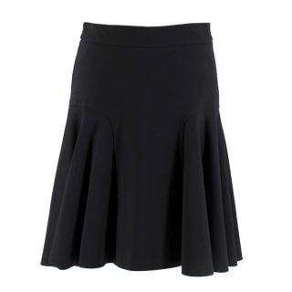 Parosh Black Pleated Circle Skirt