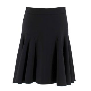 Parosh Black Pleated Circle Skirt