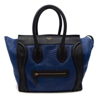 Celine Bicolor Python Mini Luggage