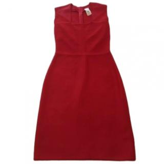 Herve Leger Red Mini Bandage Dress
