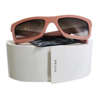 Prada Dusky Pink Square Sunglasses
