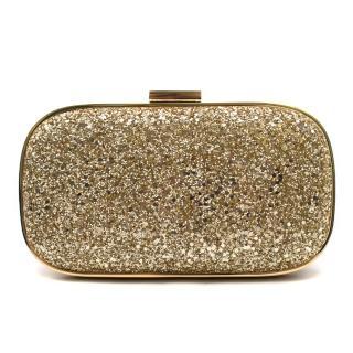 Anya Hindmarch Marano Gold Glitter Clutch
