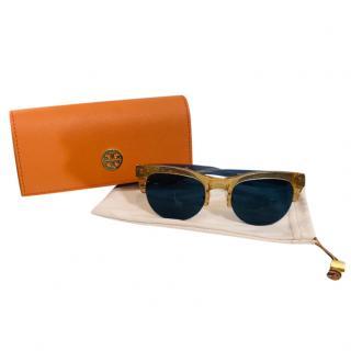 Tory Burch Two-Tone Classic Sunglasses