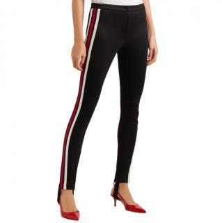 Gucci Black web-stripe stirrup trousers