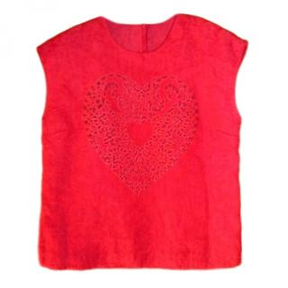 Dolce & Gabbana Red Sacred Heart Top