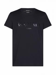 Balmain Black logo print t-shirt